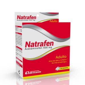 Natrafen Acetaminofen 500 mg caja